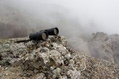 Binokular in den hohen Bergen. Lizenzfreie Stockfotos