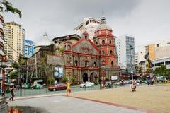 Binondo kyrka i kineskvarteret, Manila, Filippinerna fotografering för bildbyråer