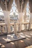 Binoscope, binóculos estacionários em di Milão da catedral ou do domo Fotografia de Stock Royalty Free