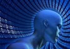 binär cyberspace Royaltyfri Fotografi