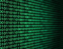 Binäre Daten Stockfoto