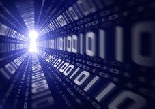 Binäre Daten-Leck Stockfotos