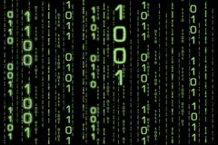 Binäre Matrix II Stockbild