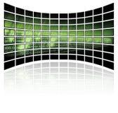Binärer Code auf Rasterfeldhintergrund Stockbild