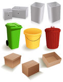 Bins_and_boxes Royalty Free Stock Image