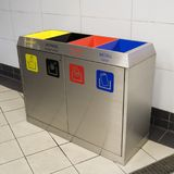 Bins for garbage seperation. A bins for garbage seperation Royalty Free Stock Photo