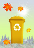 Bins for recycle. Illustration of bins for recycle Royalty Free Stock Photography