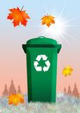 Bins for recycle. Illustration of bins for recycle Royalty Free Stock Images