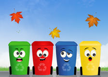 Bins for recycle. Illustration of bins for recycle Stock Photos