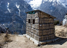 Bins For Recycle Materials in Himalaya Mountains Royalty Free Stock Photography