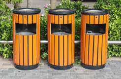 Bins recycling bins Royalty Free Stock Photography