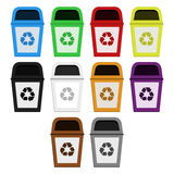 Bins of selective collection Royalty Free Stock Images