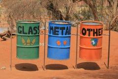 bins waste Arkivfoto