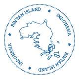 Bintan-Insel-Kartenaufkleber Stockfoto