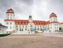 Binz, Германия Внешний взгляд здания курорта Kurhaus стоковые изображения rf