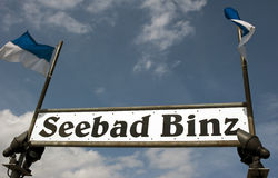 Binz pier sign Stock Image