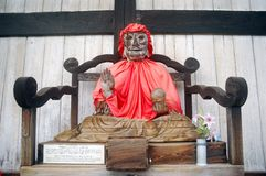 Binzuru Sonja Bodhisattva, Nara, Japan. Binzuru Sonja is a kind of healer in the Japanese Buddhist mythology. If you touch it, you will feel better Stock Photo