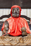 Binzuru - Todaiji寺庙的医治用的菩萨在奈良 库存图片