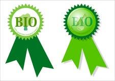 Bio étiquette Photographie stock libre de droits