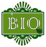 Bio étiquette Photo stock