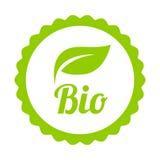 Bio ícone ou símbolo verde ilustração stock