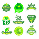 Bio- Ökologie - natürlicher Ikonensatz Stockbilder