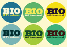 Bio- 100% naturale Fotografia Stock