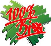 Bio_100_percent_brushstroke Royalty Free Stock Images