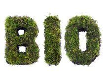 BIO. Word formed from moss isolated on white Royalty Free Stock Image