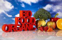 Bio- alimento Fotografie Stock