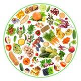 Bio alimento em minha placa Fotografia de Stock Royalty Free