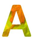 Bio alphabet. Letters from colourful autumn leaves, are isolated on a white background Stock Photos
