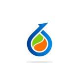 Bio arrow droplet logo Royalty Free Stock Images
