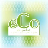 Bio ask för text för Eco produktlogo Royaltyfria Bilder