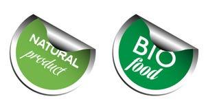 Bio autocollants de nourriture Photo libre de droits