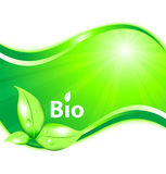 Bio background. Green-white bio  background Royalty Free Stock Photography