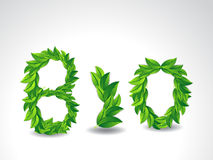 Bio background with Green Leaf Royalty Free Stock Images