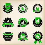 Bio badge design set Stock Photo