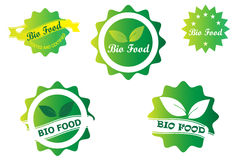 Bio Badge Logo design Stock Photography