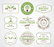 Bio Badges Crests Colored. Vector badges for any use Stock Photography