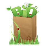 Bio bag royalty free illustration