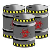 Bio- barilotti di rischio Immagine Stock