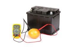 Bio battery Stock Images
