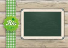 Bio Blackboard Wood Stock Image