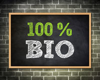 BIO - bordconcept Royalty-vrije Stock Foto's