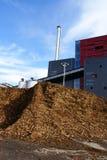 Bio brandstofelektrische centrale Stock Afbeeldingen
