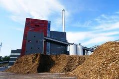 Bio brandstofelektrische centrale Royalty-vrije Stock Foto