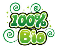 100% Bio. In bubble font Royalty Free Stock Images
