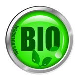 Bio Button Royalty Free Stock Image