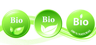 Bio button  illustration Stock Photo